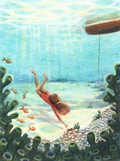Illustrator Meria Palin: Helmenkalastajatar