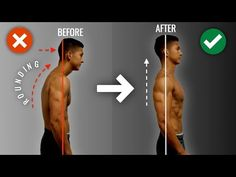 How To Fix Rounded Shoulders FAST Minute Science-Based Corrective Routine) - PostureTipsGuide Better Posture Exercises, Best Dumbbell Exercises, Dumbbell Workout, Posture Stretches, Traps Workout, Gym Workout Videos, Gym Workouts, Posture Fix, Bad Posture