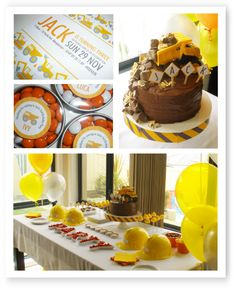 Style Me Gorgeous: A Diggers & Dump Trucks Birthday Party !