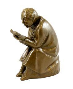 Modern Art Bronze - The Book Reader - 1936, signed Ernst Barlach - 699 Euro