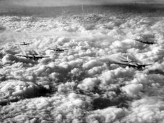 B-17s en route to another target in Germany.