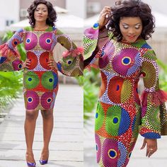See This Unique Ankara Style Short Gown