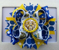 Despicable Me Minions Hair Bow /Despicable Me by DLovelyBOWtique, $9.99