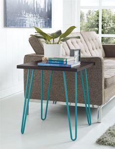 Amazon.com: Altra Furniture Owen Retro End Table with Sonoma Oak Finish and Gunmetal Gray Metal Legs: Furniture & Decor