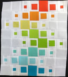 QuiltCon Challenge Block #3 by mamacjt, via Flickr  This is very small but wouldn't it be great in a size for your bed!