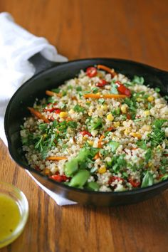 Quinoa Summer Salad | BourbonAndHoney.com. SO GOOD! My 11yr old ate it like it was ambrosia, if that's not proof of amazing I don't know what is.
