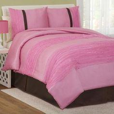 Lush Decor Paloma Comforter Set in Pink