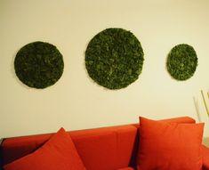 Reindeer moss wall art