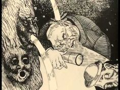 """Põrgu (Hell, 1983)  Estonian animation film by Rein Raamat. Tallinnfilm, 1983. The film brings to life in one nightmarish vision three detailed engravings from the early 30s created by Estonian artist Eduard Viiralt: """"The Preacher"""", """"Cabaret"""" and """"Hell""""."""