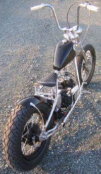 Welcome to the Home of the Original California Pocket Bike TM Mini Chopper Motorcycle, Tracker Motorcycle, Bobber Chopper, Bobber Bikes, Cool Motorcycles, Gas Powered Bicycle, Custom Bobber, Custom Bikes, Pocket Bike