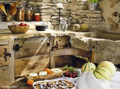 Simple rustic cabin kitchen - so beautiful