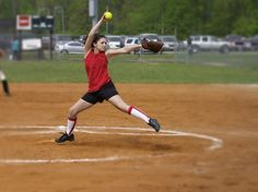 You have several options if you want to improve your softball pitching speed. Strengthening your body is one obvious method, but improving your pitching mechanics can be equally as effective. Softball Cheers, Softball Players, Girls Softball, Softball Crafts, Softball Shirts, Baseball Mom, Softball Stuff, Softball Pitching Drills, Fastpitch Softball