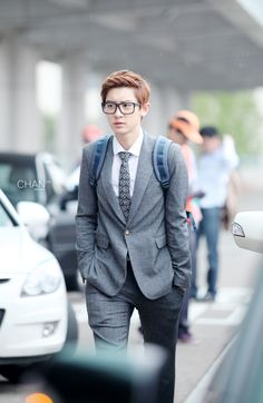 Chanyeol. Hey look. It's an #EXO tie! -Lily