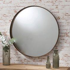 Hallway Mirror, Round Wall Mirror, Round Mirrors, Home Decor Mirrors, Living Room Mirrors, Classic Wall Mirrors, Full Length Mirror Wall, Copper Mirror, Dekoration