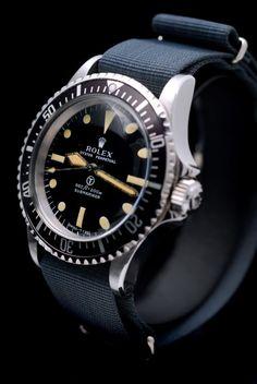 Original Rolex Milsub NATO Strap | Perpetuelle. A los puristas se les deben estar saltando los ojos por esa NATO!!