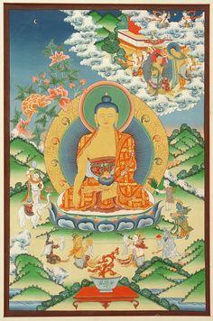 Tibetan Thangka - Shakyamuni  www.roadswelltraveled.com