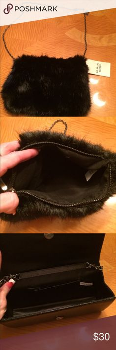 Black bag,   Going out bag One black with fur brand new and the other has jewels and it's black Bags Mini Bags