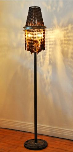up-cycled floor lamp