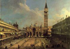 Canaletto, Het San Marcoplein Oostwaarts kijkend langs de centrale as, ca. 1723, olieverf op doek, 137.8 x 204.5 cm, Thyssen-Bornemisza Collectie, Madrid