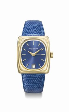 Patek Philippe. A Rare 18k Gold Rectangular Electronic Wristwatch with Sweep Centre Seconds and date. Manufactured in 1974 #ChristiesWatches