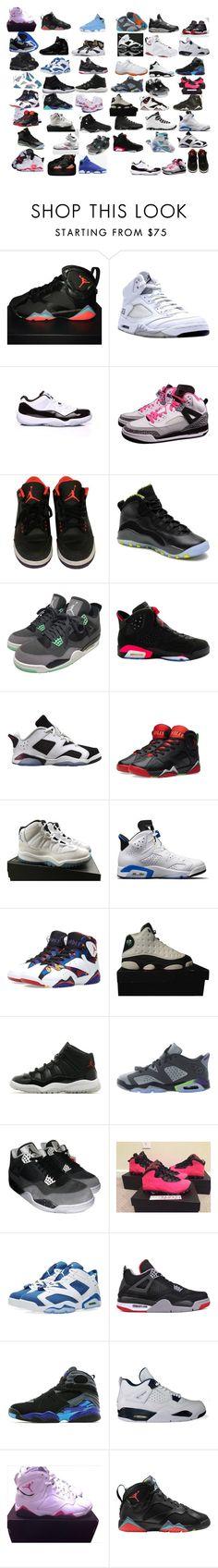 """all Jordans"" by callmeyaya ❤ liked on Polyvore featuring NIKE, Concord, Retrò, Jordan Brand and Freaker"