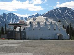 Abandoned igloo hotel... kitsch and concrete