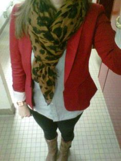 Simply Sarah: Series Outfit 3: Recycling Scarves As Accessories