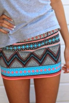 Hot summer skirt with bright colors and an awesome pattern
