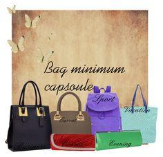 """Bag capsoule"" by trendexplorer-736 ❤ liked on Polyvore featuring Kipling, LIU•JO, Roda, Dasein and Magid"