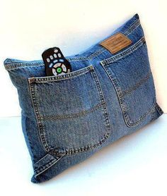 Cushion of jeans
