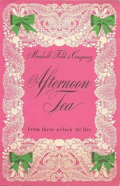 MENU - CHICAGO - MARSHALL FIELD'S - AFTERNOON TEA - 1943