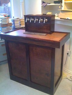 1000 images about keezer ideas on pinterest beer taps for Home bar with kegerator space