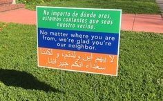 """""""Glad You're Our Neighbor"""" Yard Sign"""