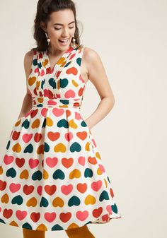 Surely Sweet A-Line Dress with Pockets