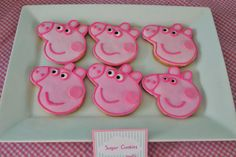 Peppa Pig cookies Partylicious: {Peppa Pig Party}
