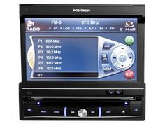 """DVD Automotivo Pósitron SP6111AV - Tela Retrátil 7"""" Entrada USB + Entrada Micro SD"""