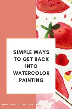Are you wanting to get back into watercolor painting? Check out this blog for tips on how to watercolor paint! Hey, I'm Mako from the YouTube channel 'makoccino'! Here you will find my tips and tutorials on how to do watercolor paintings! Find me on Instagram @makoccinos #watercolor #watercolorartist #howtowatercolor Dwelling On The Past, Painting Process, Get Back, Easy Paintings, Watercolour Painting, Simple Way, Special Gifts, Find Art, Art Projects