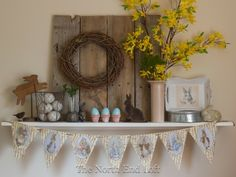Une décoration simple mais élégante de Pâques