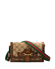 Lady Web Original GG Canvas Convertible Wallet, Beige by Gucci at Neiman Marcus.