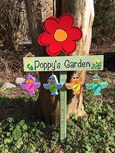 Personalized grandfather garden stake, garden sign, lawn ornament ** Details can be found by clicking on the image.
