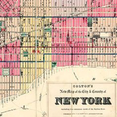 New York  - old map