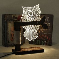 Owl Led Table Light Lamp