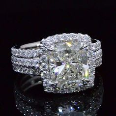 4.37 Ct. Cushion Cut Diamond Engagement Ring H,SI1 EGL - Recently Sold Engagement Rings