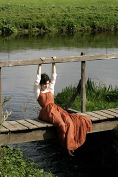 Freddie had given up the chase two miles ago, leaving Lizzie alone with her thoughts. Eventually, she'd wandered to Piper's lake, near the Abbott property. She fell to the worn planks of the shabbily-made foot bridge. Letting her legs hang over the side of the bridge, over the water, she sighed. Her thoughts were marching by, chasing one another, one right after the other.