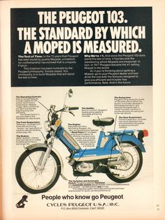 https://flic.kr/p/UiKy9E | 1978 Peugeot 103 Moped Advertisement Playboy August 1978 | 1978 Peugeot 103 Moped Advertisement Playboy August 1978