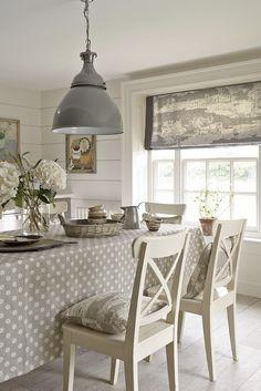 Pretty Maids Oilcloth in Dove £42 per/mtr