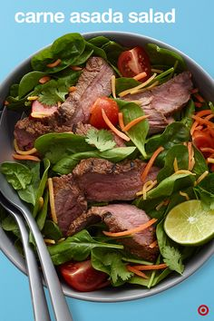 When you're expecting the crowds to come by, nothing beats a backyard BBQ like a Carne Asada Salad to liven things up. Juicy, tender steak tossed with a healthy mix of greens and loaded with Mexican flavors, it's the perfect quick-to-prepare, no fuss dish ever.