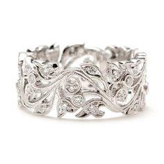 Beverley K Vine Scroll Diamond Wedding Band