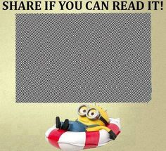 Can you see? #haha #smile #lol #look #funny #humor #minion #minions #fashionmagenet Funny Minion Memes, Minions Quotes, Stupid Funny Memes, Funny Relatable Memes, Funny Humor, Funny Illusions, Eye Illusions, Cool Optical Illusions, Eye Tricks