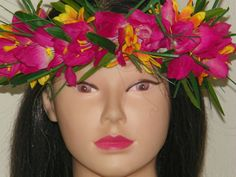Silk Floral Head Hei by on Etsy Hawaiian Themed Outfits, Silk Orchids, Greenery, Perfect Fit, Daisy, Costumes, Floral, Fashion, Moda